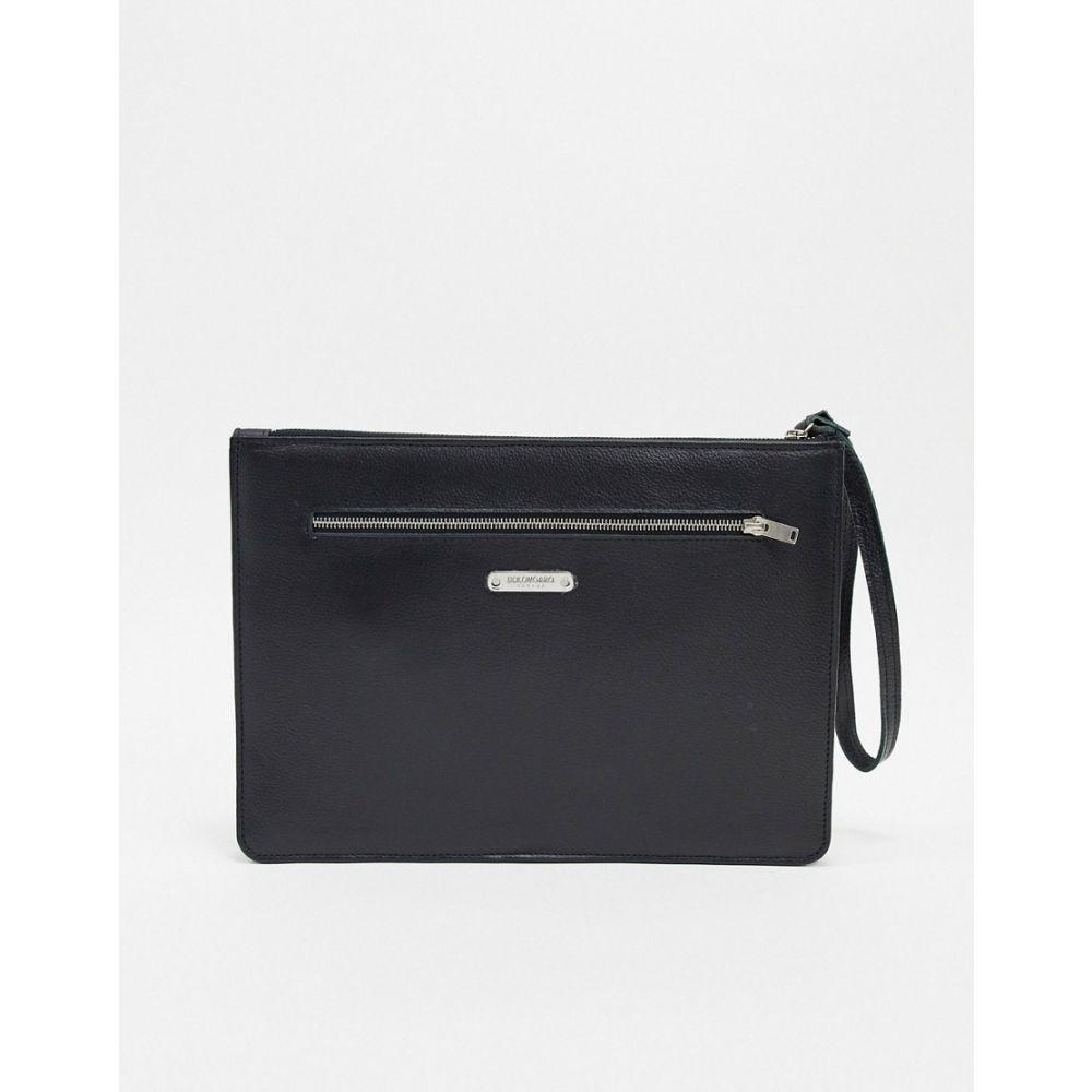ボロンガロトレバー Bolongaro Trevor メンズ クラッチバッグ バッグ【leather oversized clutch bag】Black