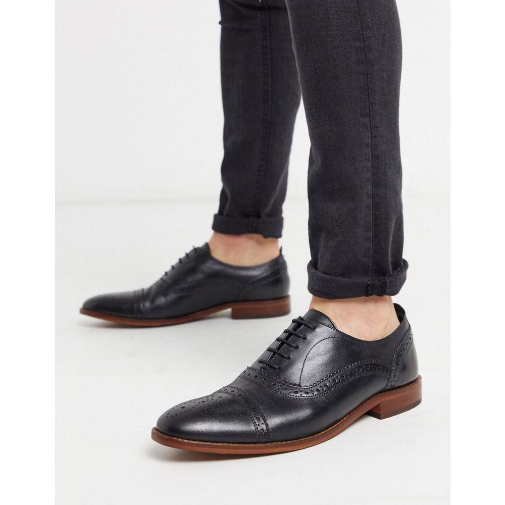 ベース ロンドン Base London メンズ 革靴・ビジネスシューズ メダリオン シューズ・靴【Base london cast brogues in black leather】Black