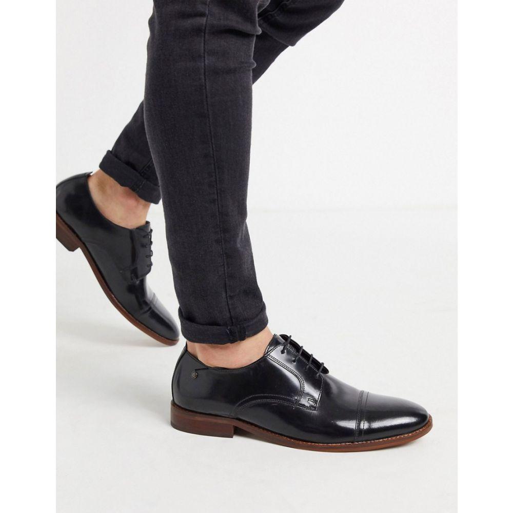 ベース ロンドン Base London メンズ 革靴・ビジネスシューズ ダービーシューズ シューズ・靴【Base london toe cap derby in high shine black】Black