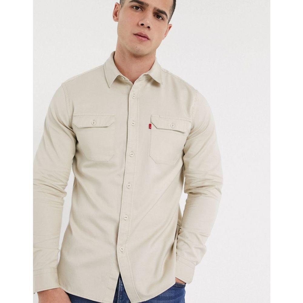 リーバイス Levi's メンズ シャツ トップス【jackson twill oversized worker shirt in fog grey】Fog grey