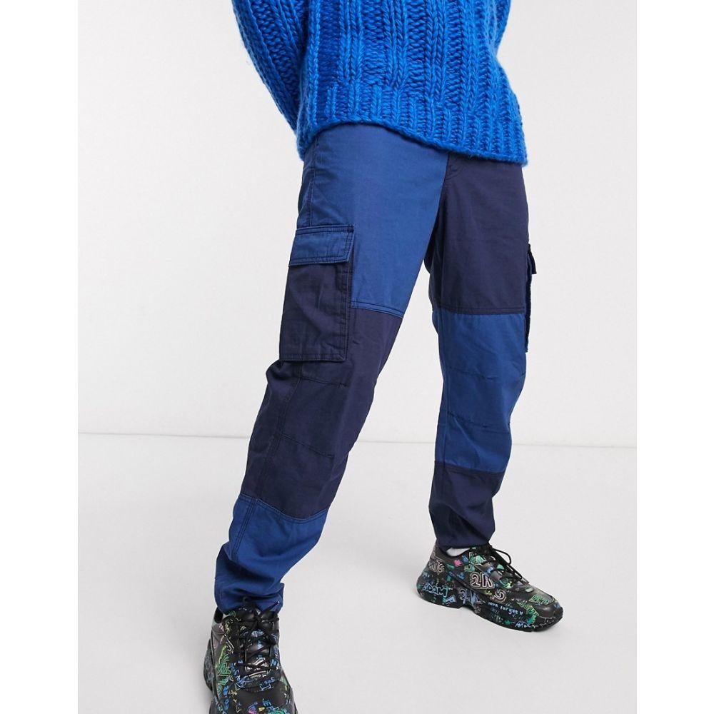 メンナス Mennace メンズ カーゴパンツ ボトムス・パンツ【utility cut and sew cargo trouser in navy】Navy