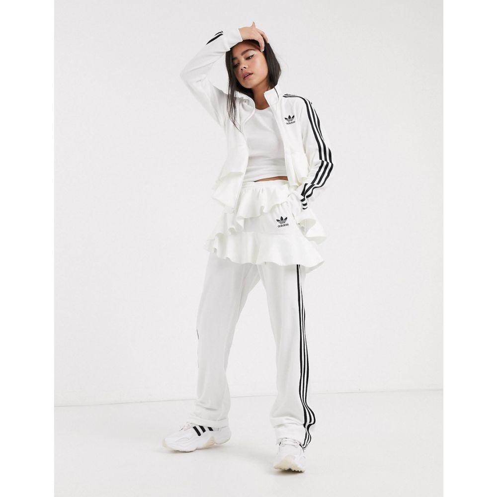 アディダス adidas Originals レディース スウェット・ジャージ ボトムス・パンツ【x J KOO velour trefoil ruffle track pant in off white】Off white