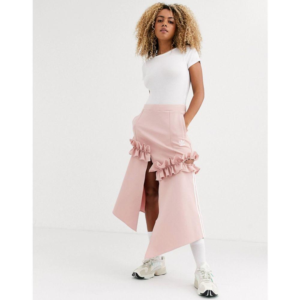 アディダス adidas Originals レディース スカート 【x J KOO trefoil ruffle skirt in pink】Pink