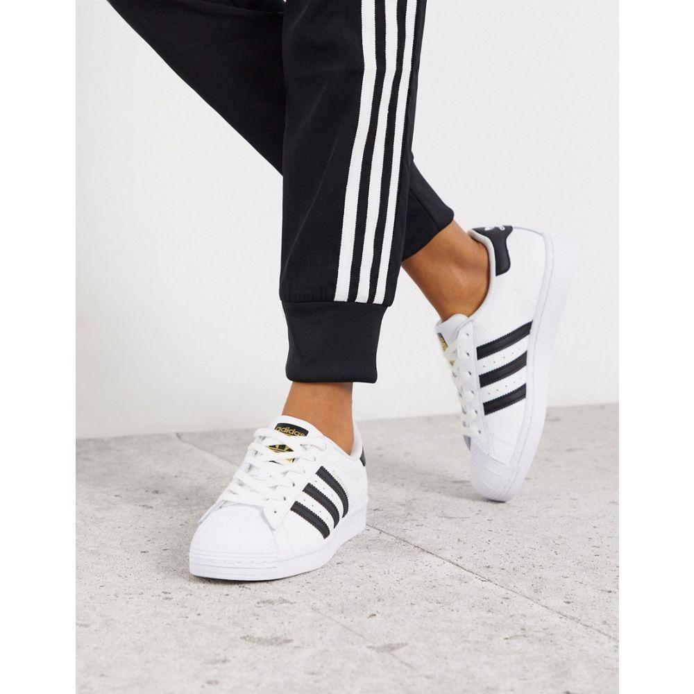 アディダス adidas Originals レディース スニーカー シューズ・靴【Superstar trainers in white and black】Multi