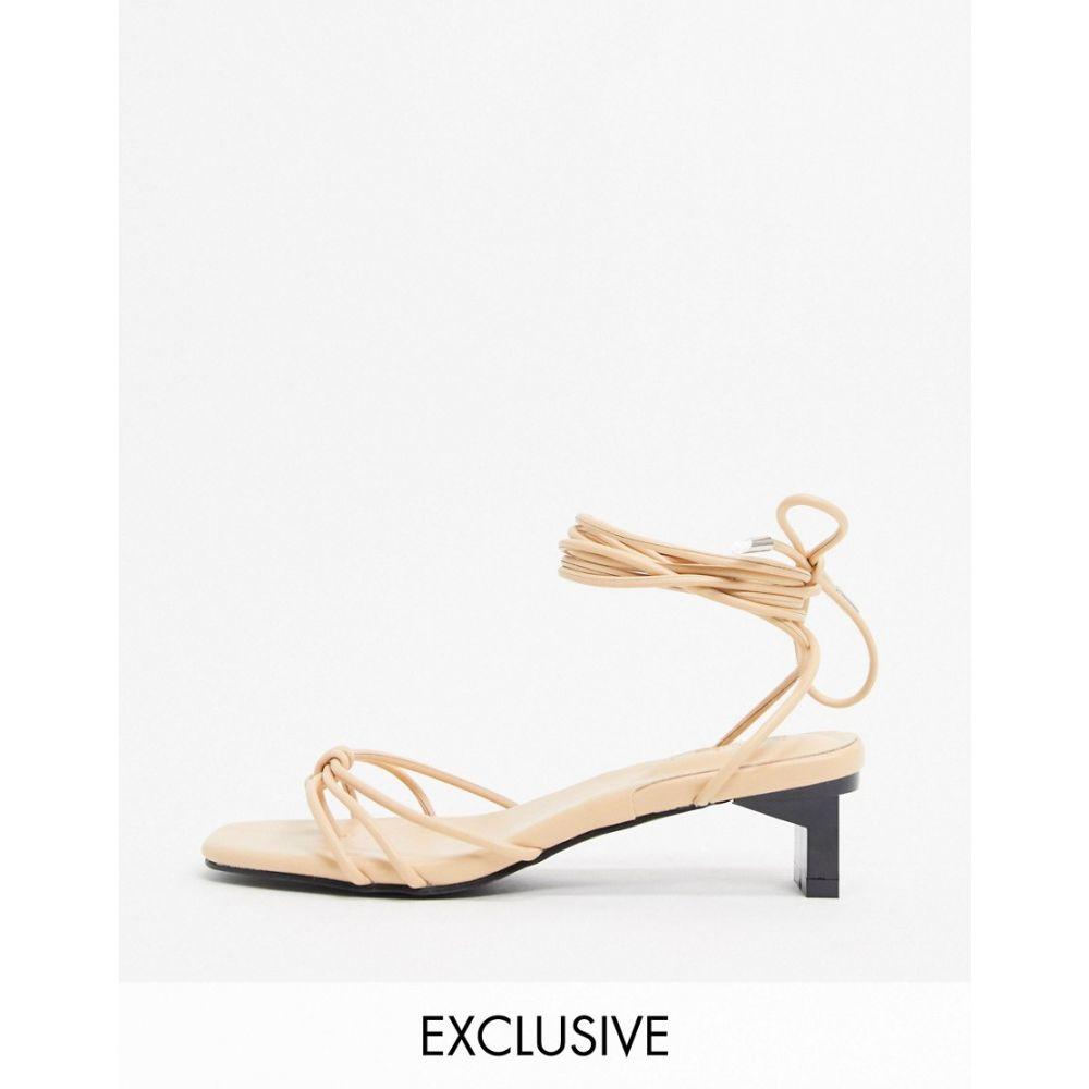 Z_Code_Z レディース サンダル・ミュール シューズ・靴【Danika ankle tie low heeled sandals in beige】Beige