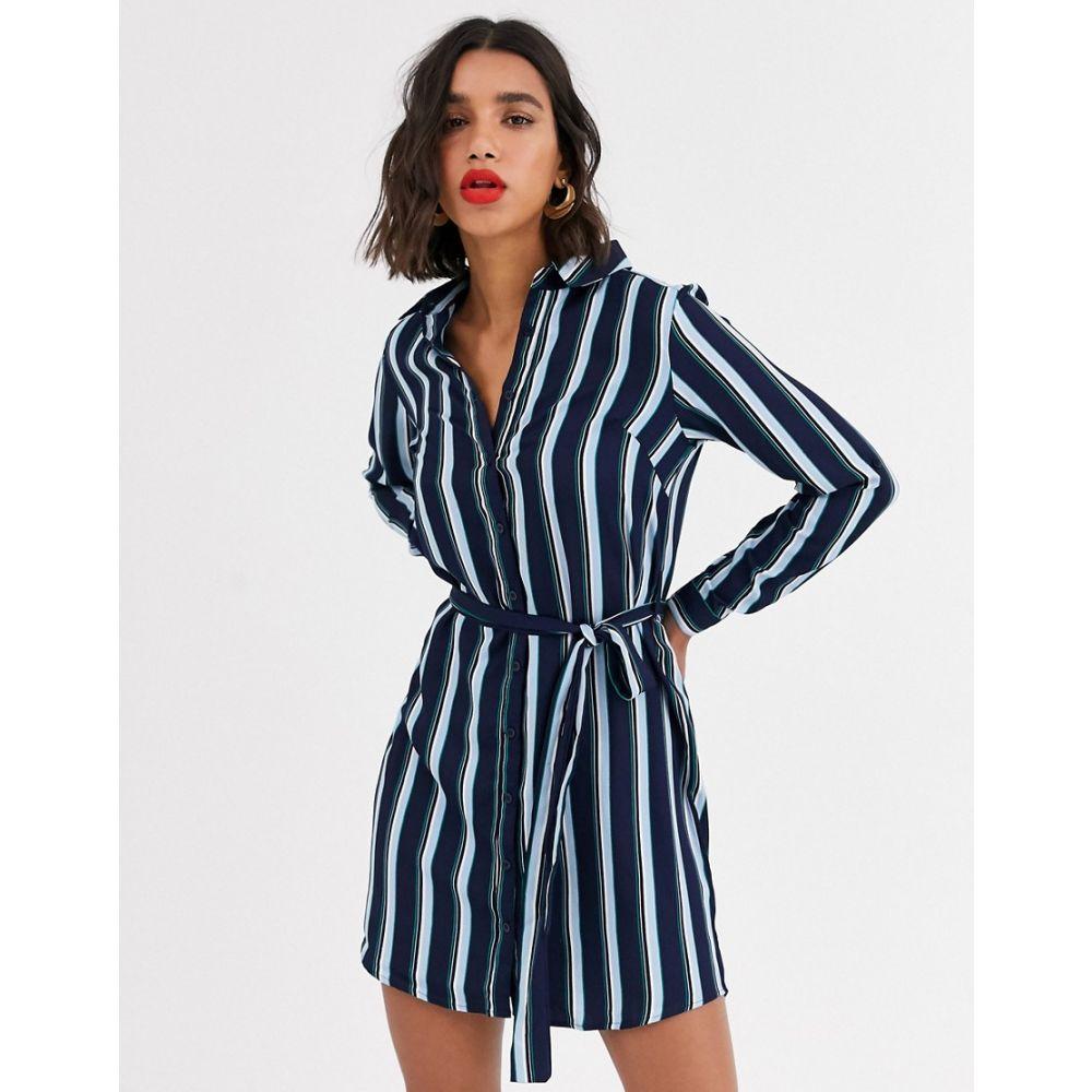 アックスパリス AX Paris レディース ワンピース シャツワンピース ワンピース・ドレス【shirt dress in stripe】Stripe