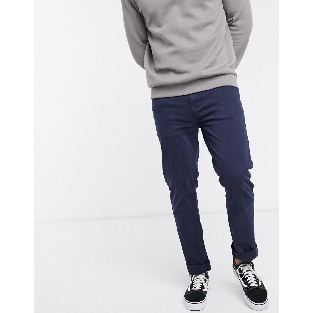 ルーク Luke メンズ チノパン ボトムス・パンツ【freddyfit chino trousers】Navy