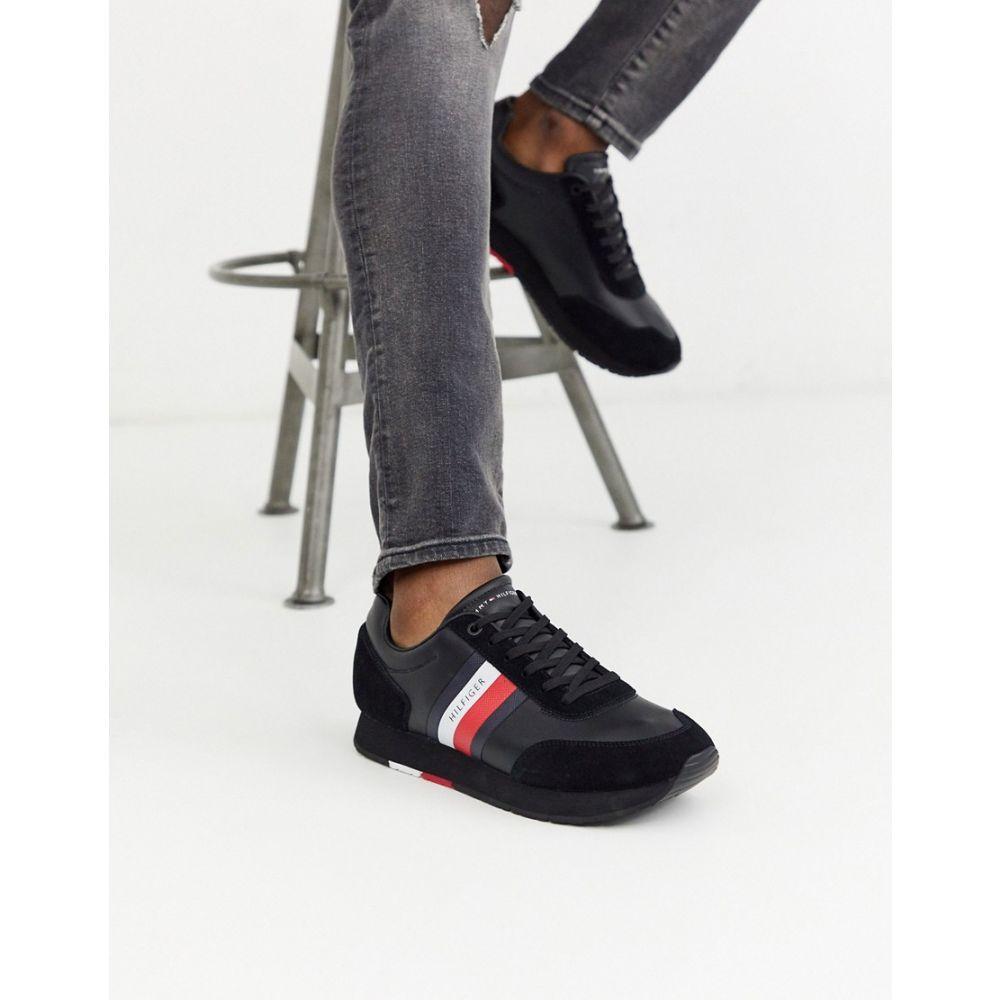 トミー ヒルフィガー Tommy Hilfiger メンズ ランニング・ウォーキング シューズ・靴【corporate leather flag runner in black】Black