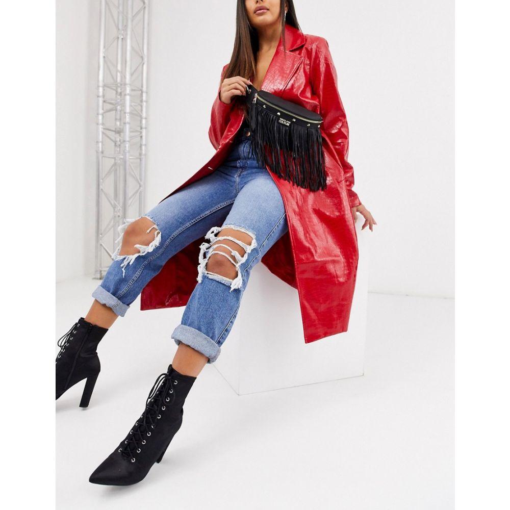 ヴェルサーチ Versace Jeans レディース ボディバッグ・ウエストポーチ バッグ【Couture tassel bum bag】Black