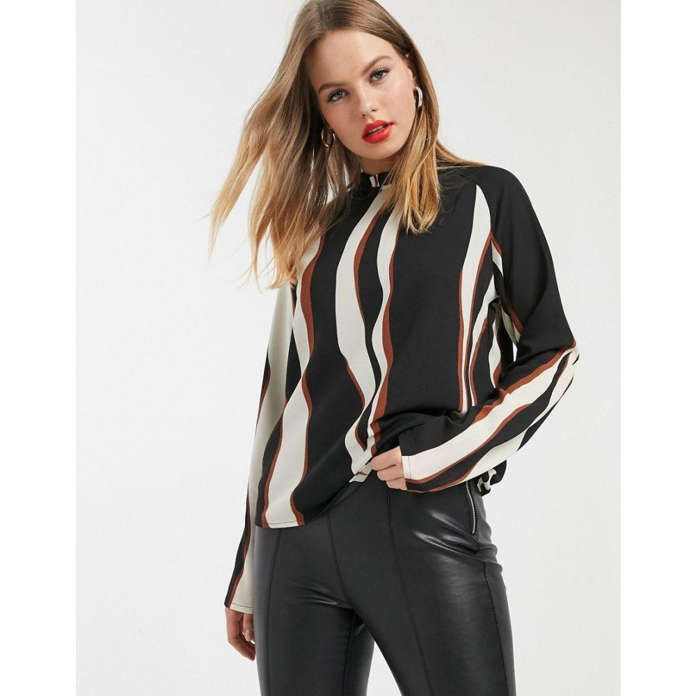 ヴェロモーダ Vero Moda レディース ブラウス・シャツ トップス【blouse with high neck in black abstract print】Multi