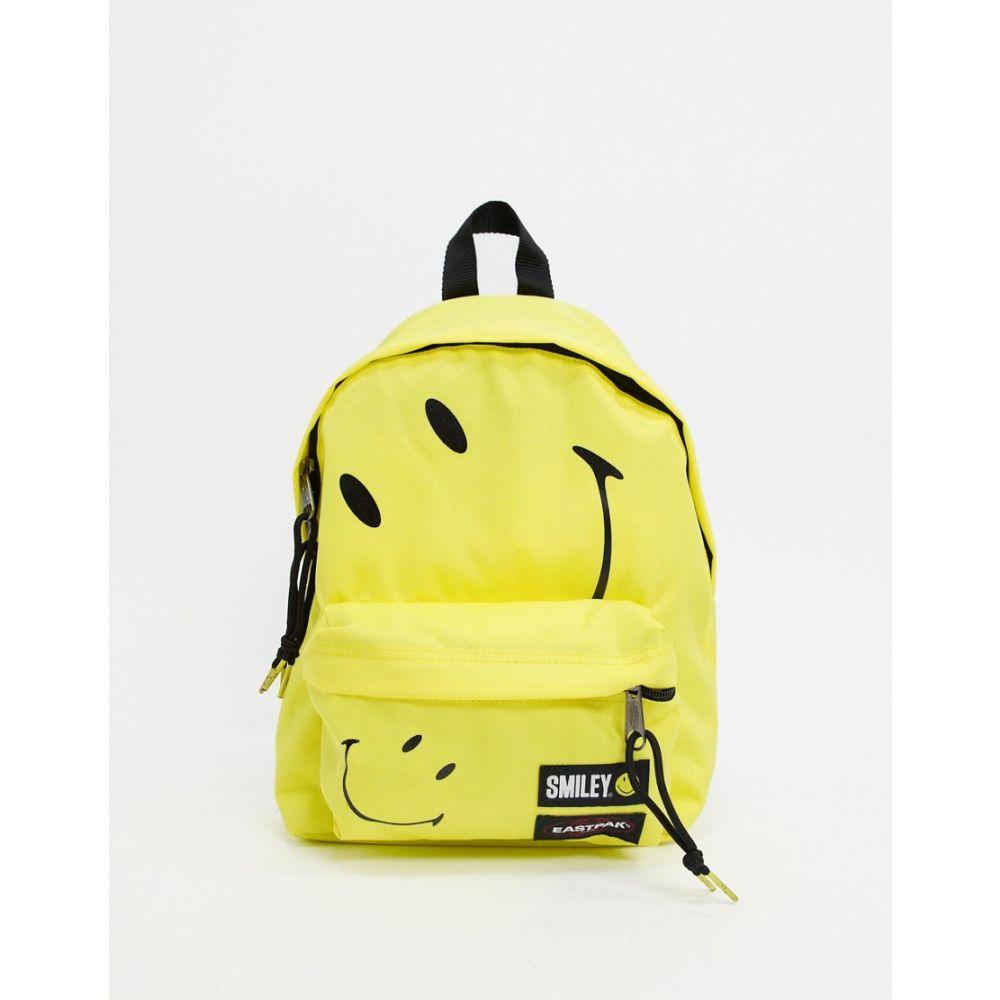 イーストパック Eastpak レディース バックパック・リュック バッグ【x Smiley Orbit backpack in yellow】Smiley big