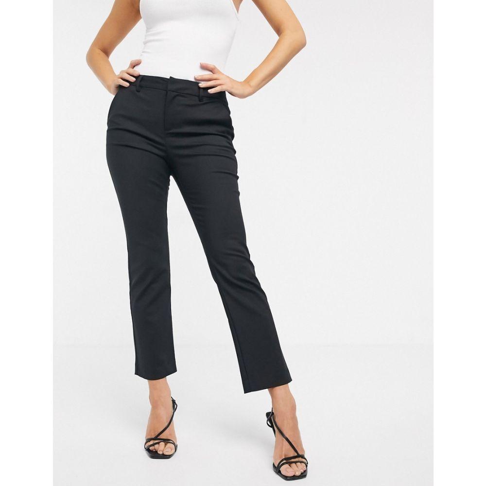 ヴェロモーダ Vero Moda レディース ボトムス・パンツ 【straight leg trousers in black】Black