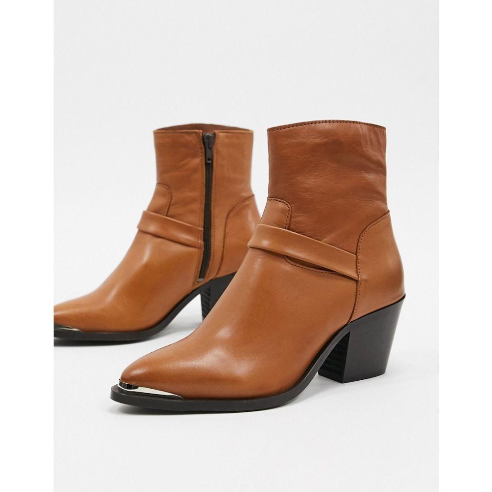 ヴェロモーダ Vero Moda レディース ブーツ ウェスタンブーツ シューズ・靴【leather western boots】Cognac