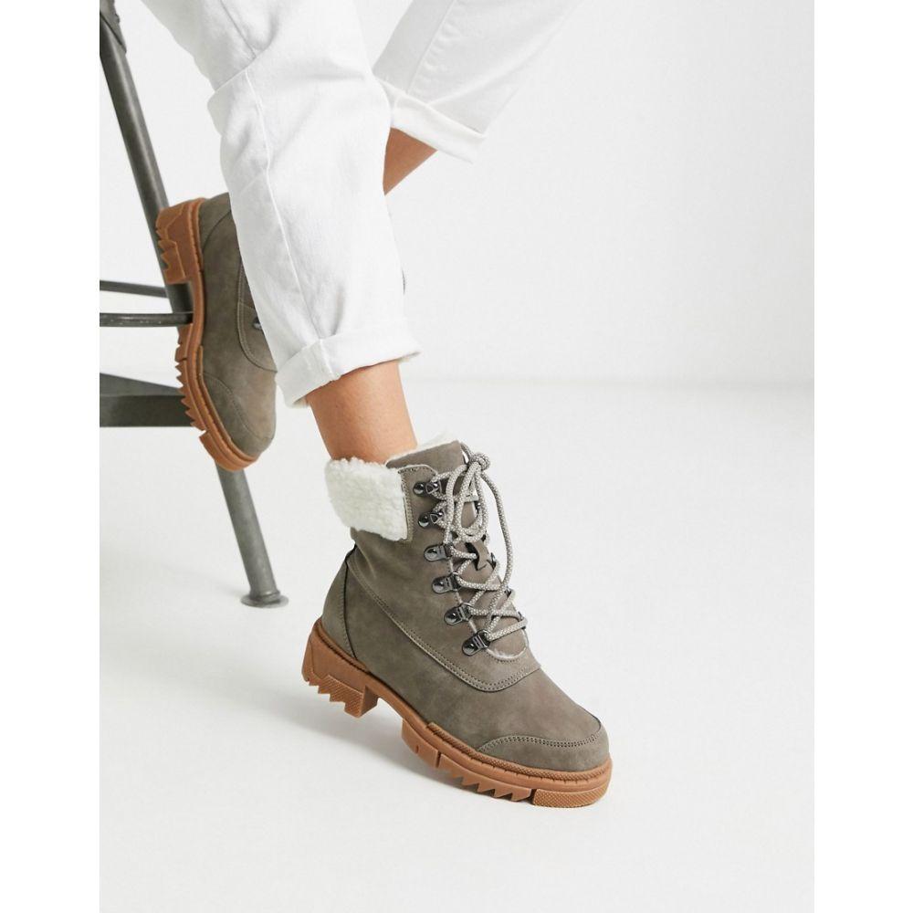 ヴェロモーダ Vero Moda レディース ブーツ チャンキーヒール シューズ・靴【chunky utility hiking boots】Falcon