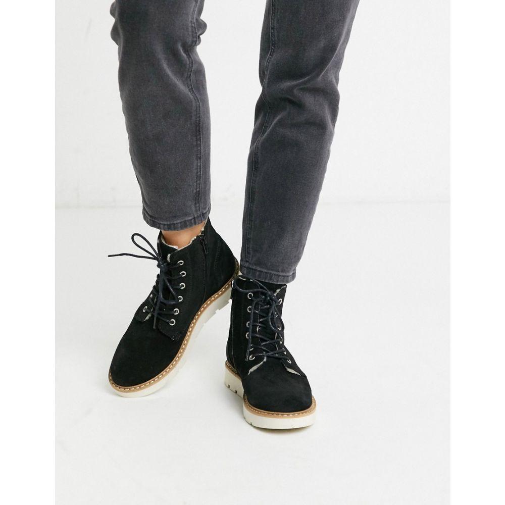ヴェロモーダ Vero Moda レディース ブーツ シューズ・靴【contrast sole hiking boots】Black