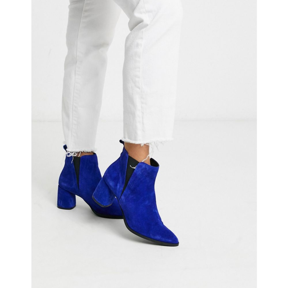 ヴェロモーダ Vero Moda レディース ブーツ ウェスタンブーツ シューズ・靴【suede heeled western boots】Sodalite blue