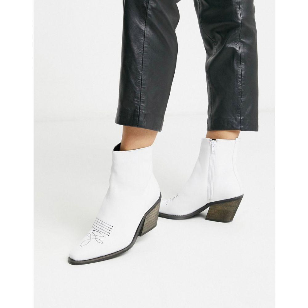 ヴェロモーダ Vero Moda レディース ブーツ ウェスタンブーツ シューズ・靴【leather western boots】Snow white