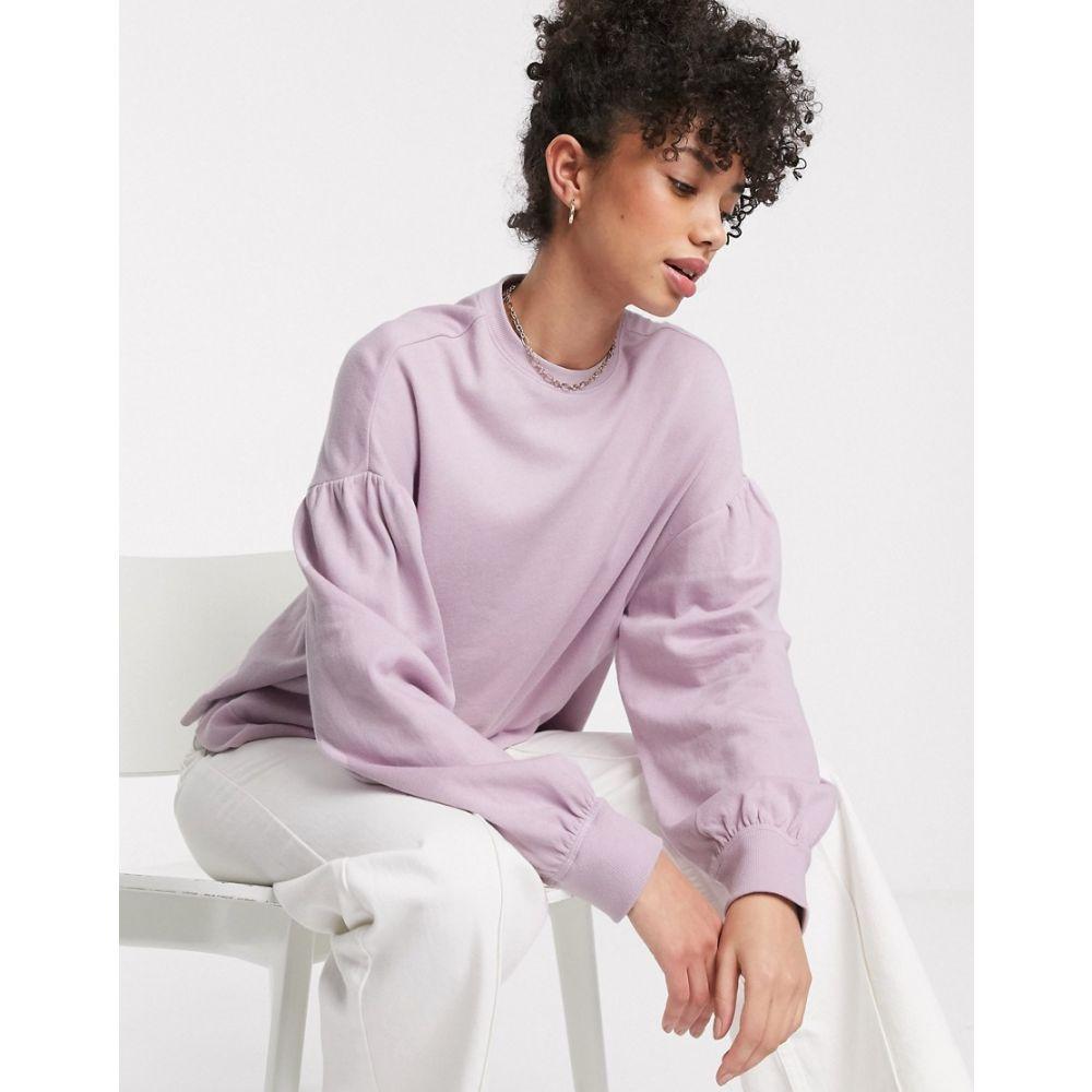 アンドアザーストーリーズ & Other Stories レディース トップス ドロップショルダー【balloon sleeve drop shoulder top in lilac】Lavender