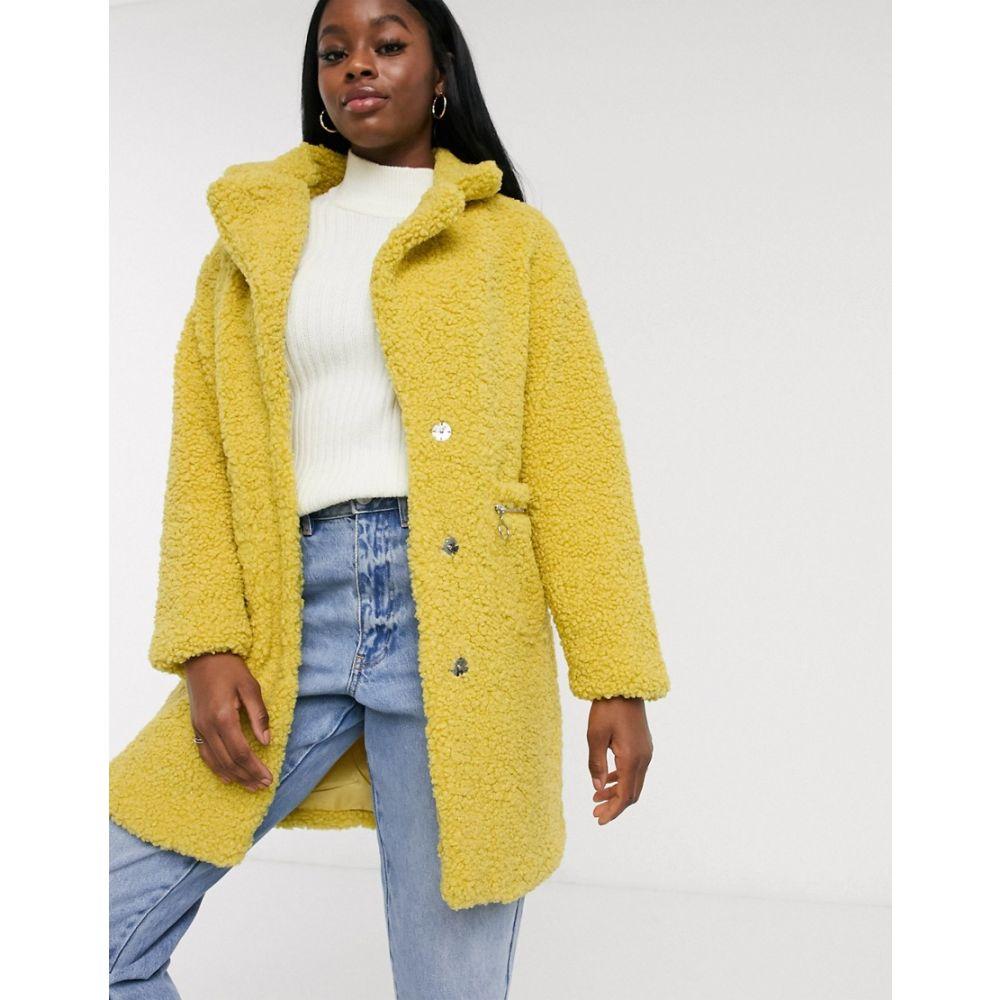 インフルエンス Influence レディース コート アウター【boucle coat in mustard】Mustard