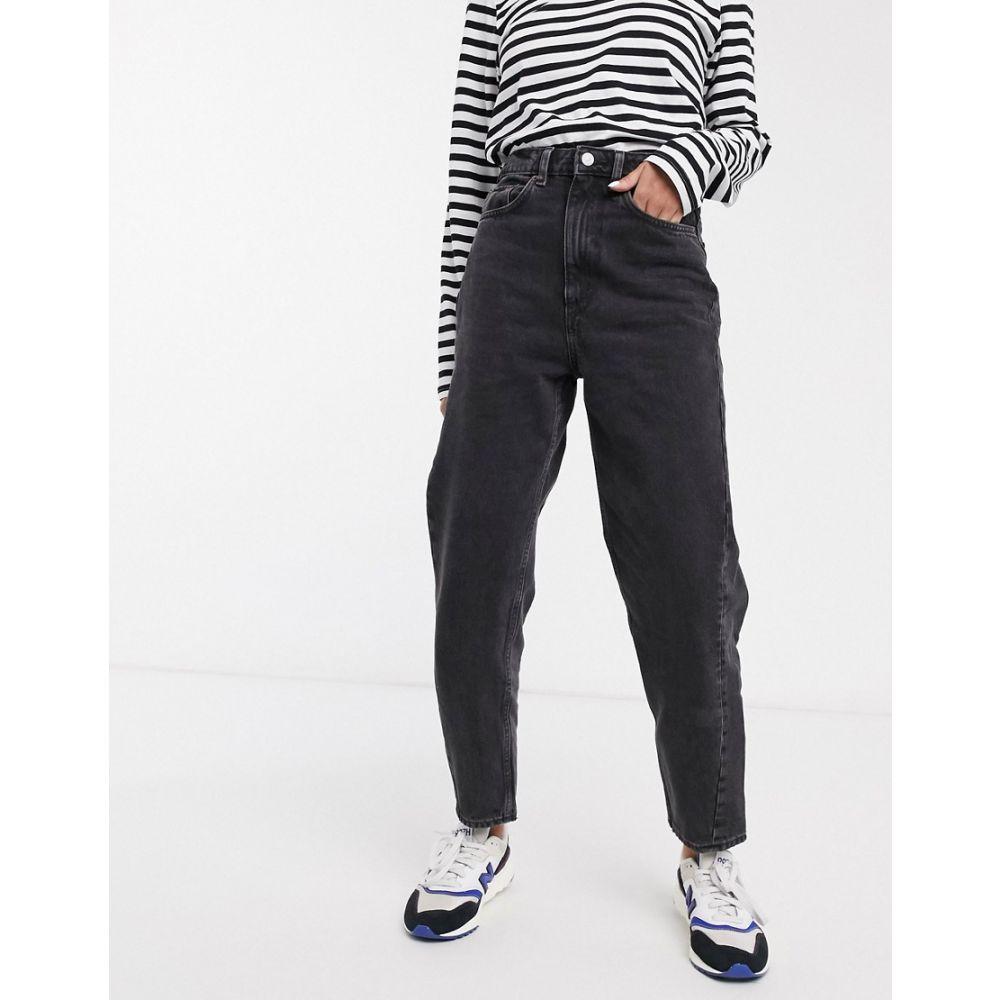 ウィークデイ Weekday レディース ジーンズ・デニム ボトムス・パンツ【Meg organic cotton mom jean in washed black】Black