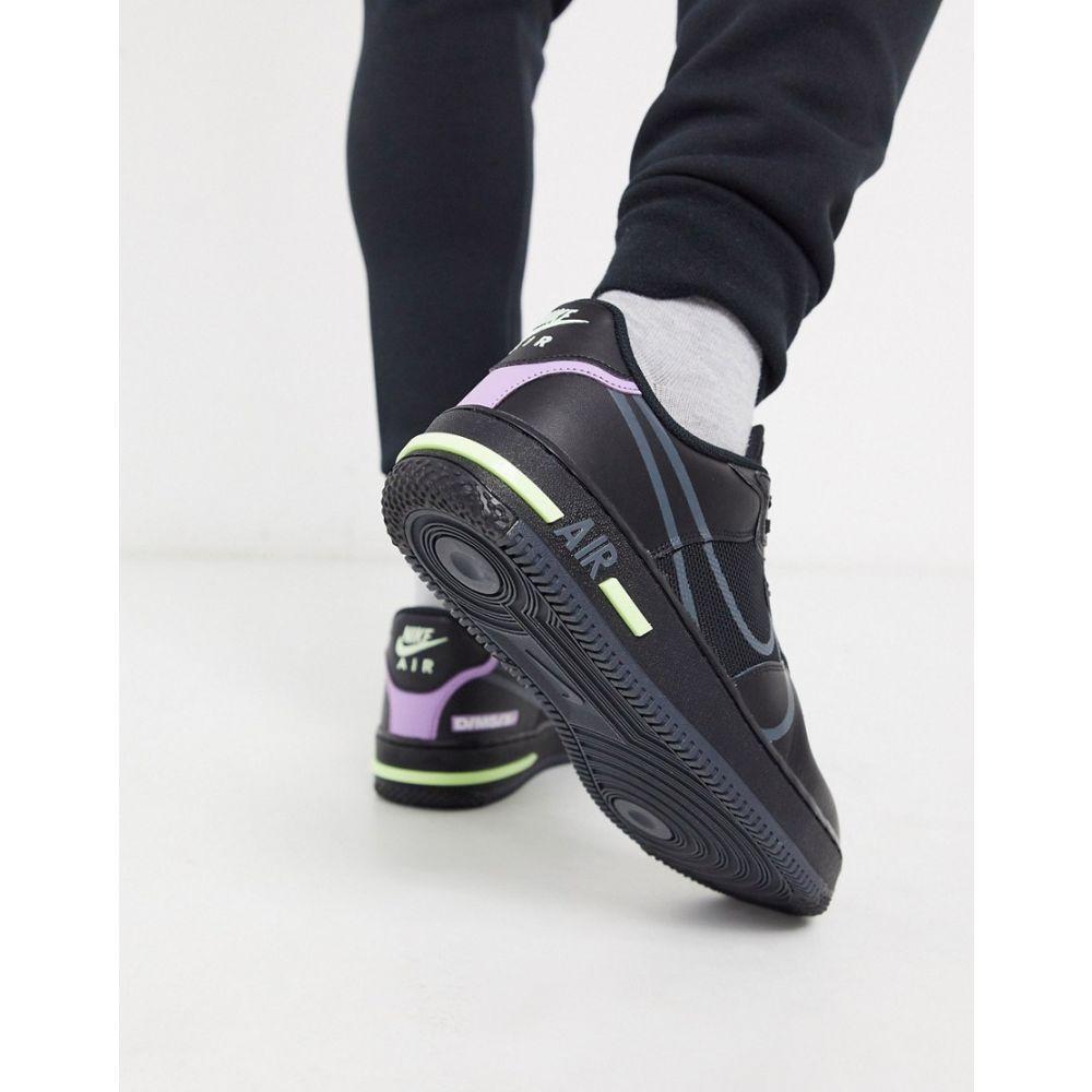 ナイキ Nike メンズ スニーカー エアフォースワン シューズ・靴【Air Force 1 React trainers in black】Black