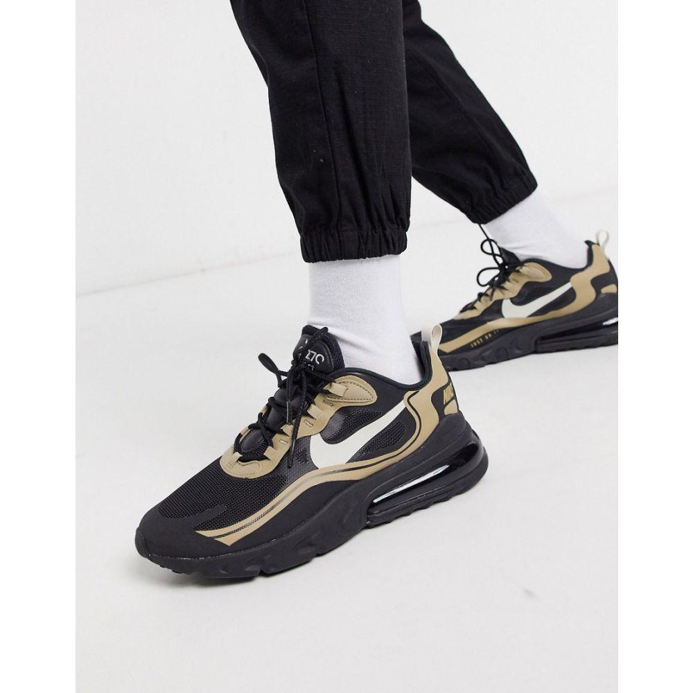 ナイキ Nike メンズ スニーカー エアマックス 270 シューズ・靴【Air Max 270 React trainers in black/sand】Black/sand