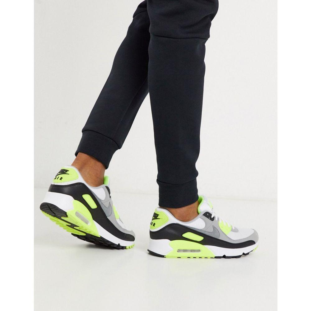 ナイキ Nike メンズ スニーカー エアマックス 90 シューズ・靴【Air Max 90 Recraft trainers in white/volt】White/volt