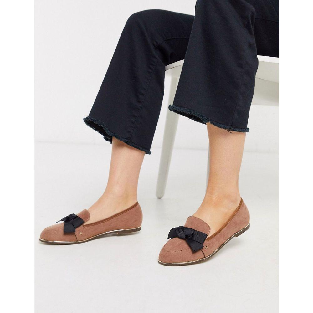 ミス ケージー Miss KG レディース ローファー・オックスフォード シューズ・靴【flat bow loafers】Beige