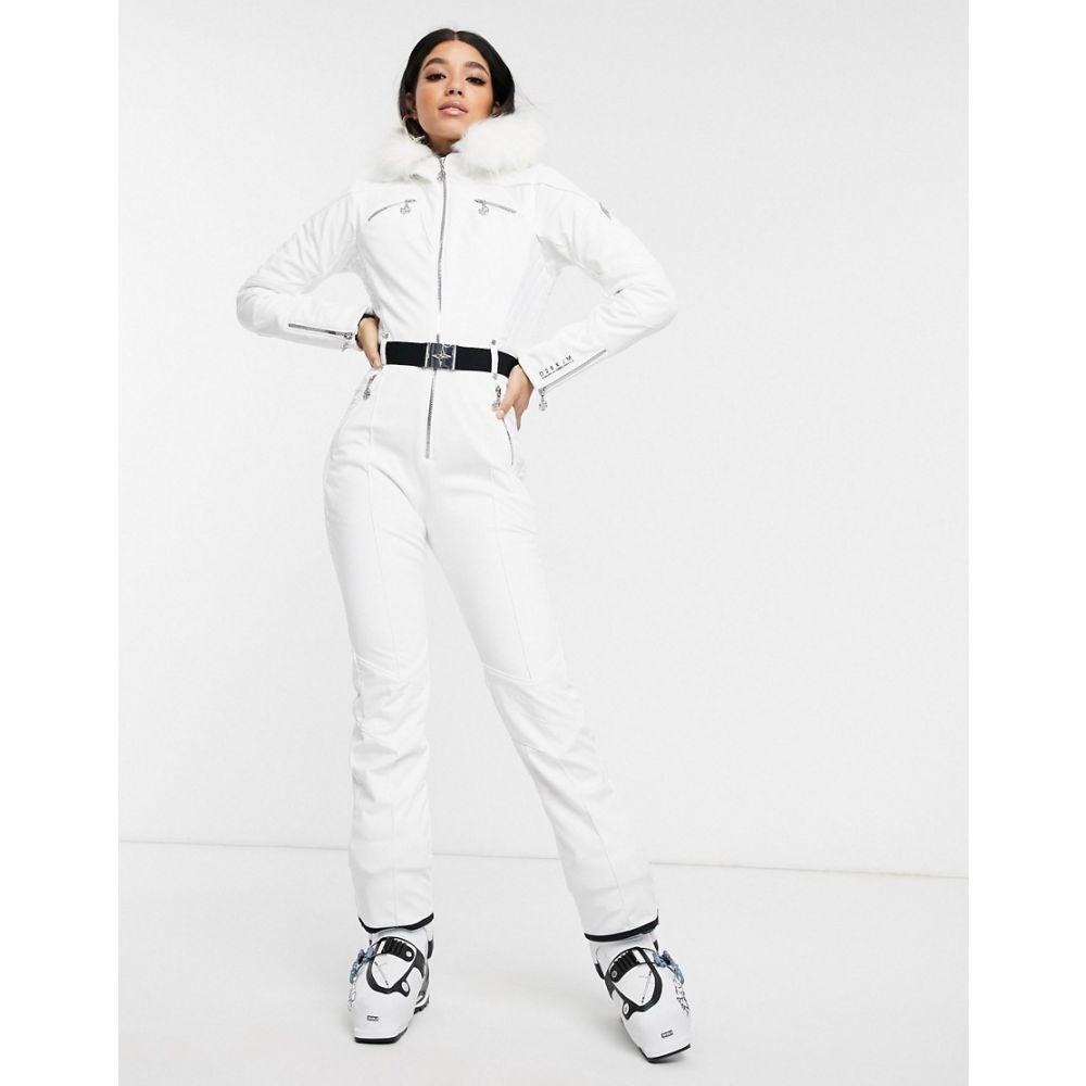 デア トゥビー Dare 2b レディース スキー・スノーボード ツナギ ボトムス・パンツ【X Julien Macdonald Maximum snow suit in white】White