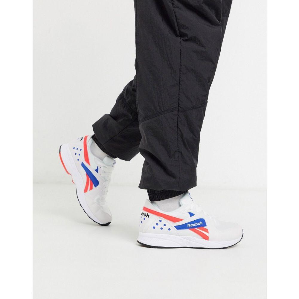 リーボック Reebok メンズ スニーカー シューズ・靴【Pyro Leather Trainers in white and red】White/neon red