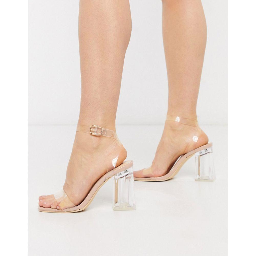 トリュフコレクション Truffle Collection レディース サンダル・ミュール シューズ・靴【clear heeled sandals】Clear/beige