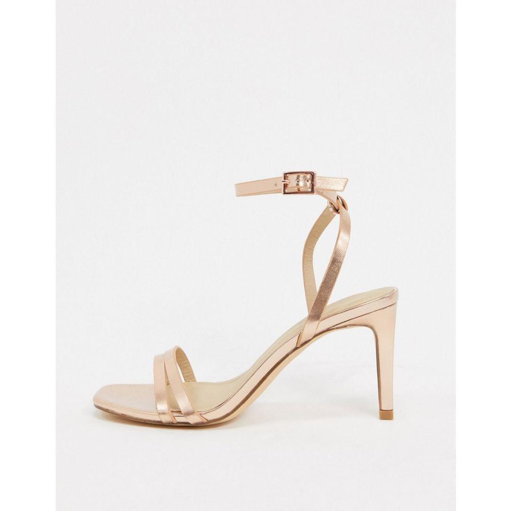 トリュフコレクション Truffle Collection レディース サンダル・ミュール シューズ・靴【mid heel barely there sandals】Rose gold