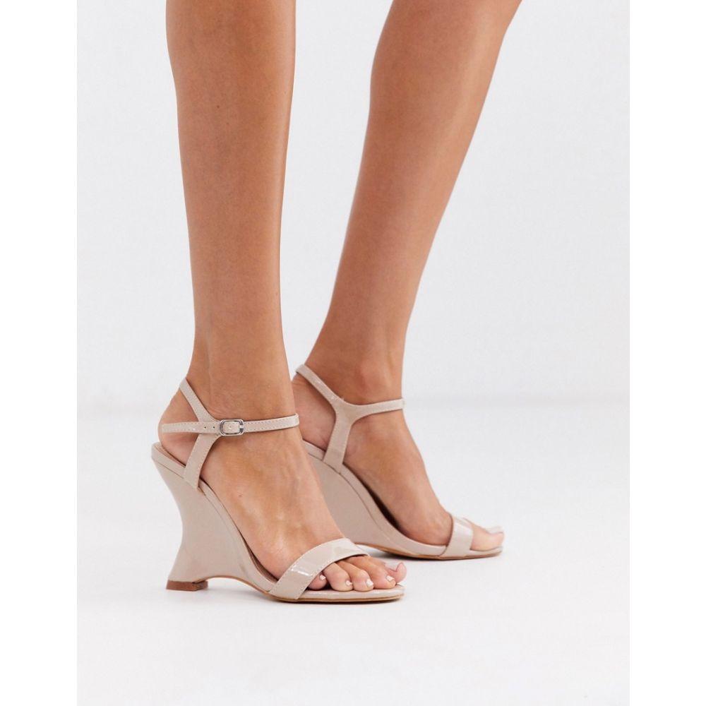 ミスガイデッド Missguided レディース ヒール ウェッジソール シューズ・靴【patent wedge heels】Light pink