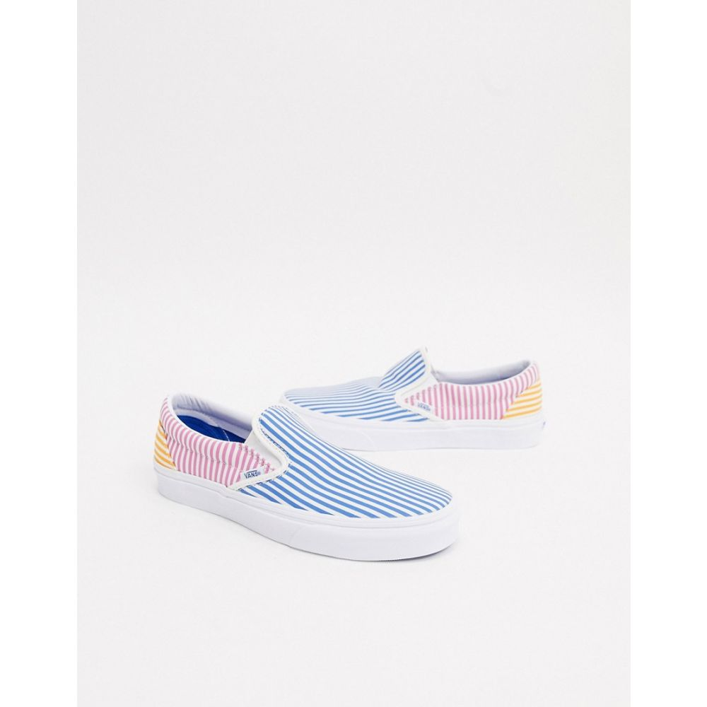 ヴァンズ Vans メンズ スリッポン・フラット シューズ・靴【classic slip on striped shoe】Deck club