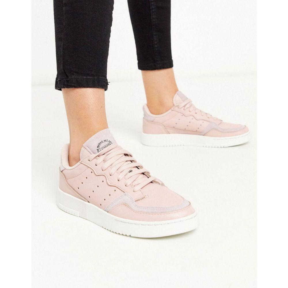 アディダス adidas Originals レディース スニーカー シューズ・靴【adidas originals supercourt trainers in pink】Appnk/pnky/rywht
