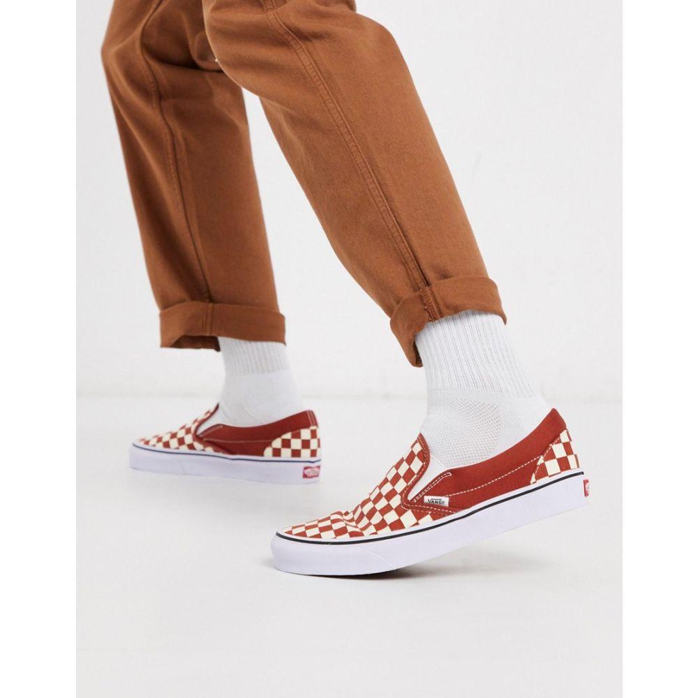 ヴァンズ Vans メンズ スリッポン・フラット シューズ・靴【Classic Slip-On trainer in red/white checkerboard】Checkerboard pican