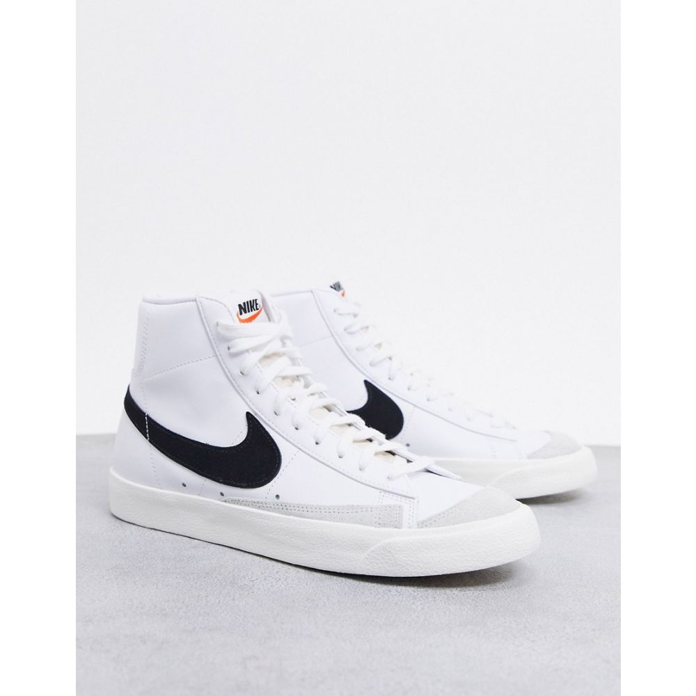 ナイキ Nike メンズ スニーカー シューズ・靴【Blazer Mid '77 trainers in white/black】White/black