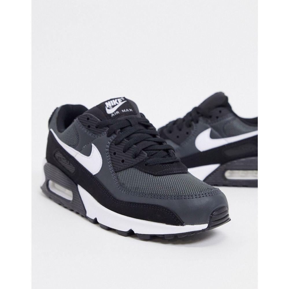 ナイキ Nike メンズ スニーカー エアマックス 90 シューズ・靴【Air Max 90 Recraft trainers in black/grey】Black