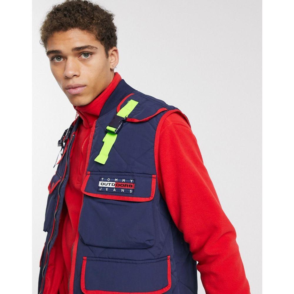 トミー ジーンズ Tommy Jeans メンズ タンクトップ トップス【technical utility vest in navy】Black iris