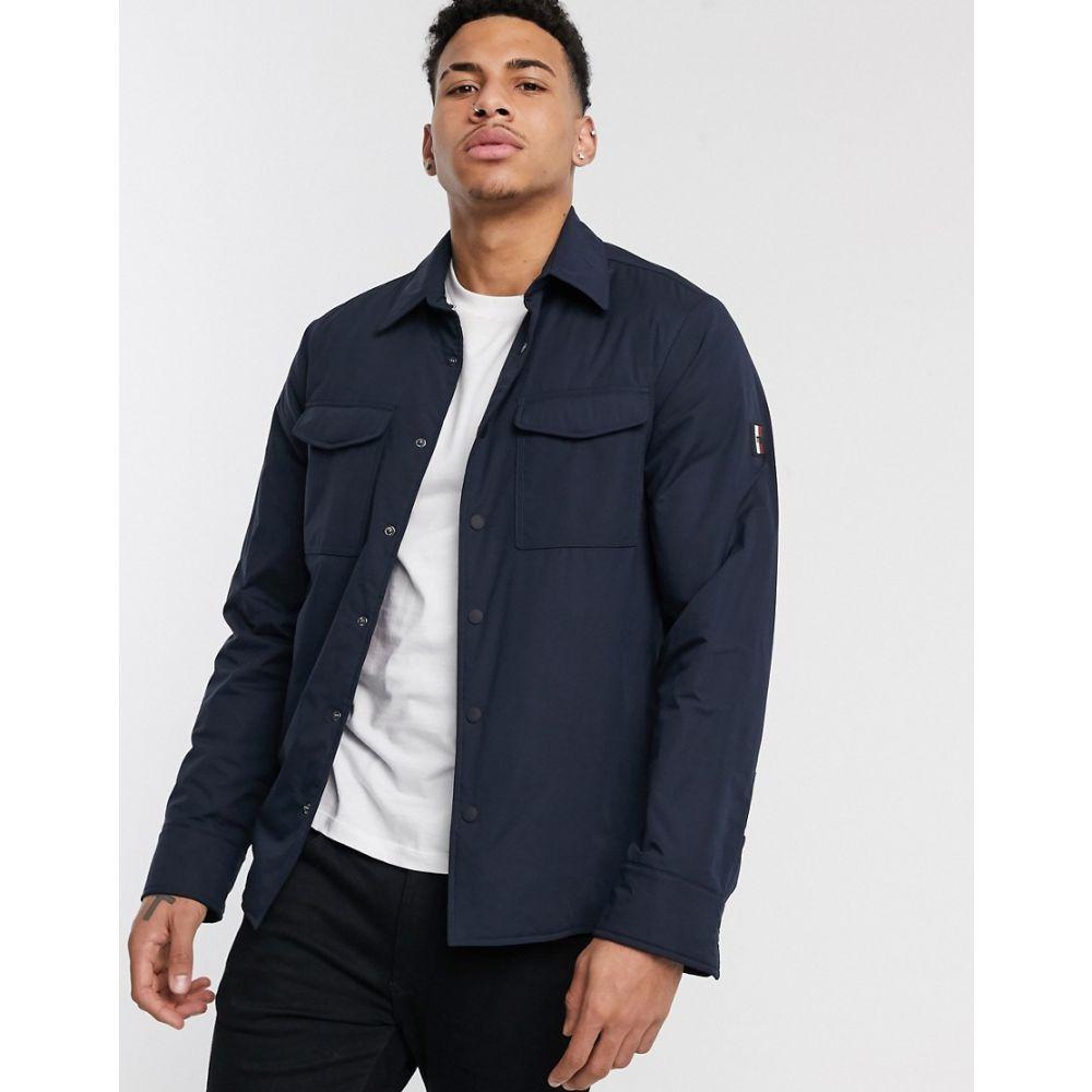トミー ヒルフィガー Tommy Hilfiger メンズ ジャケット オーバーシャツ アウター【stretch padded overshirt jacket in navy】Desert sky