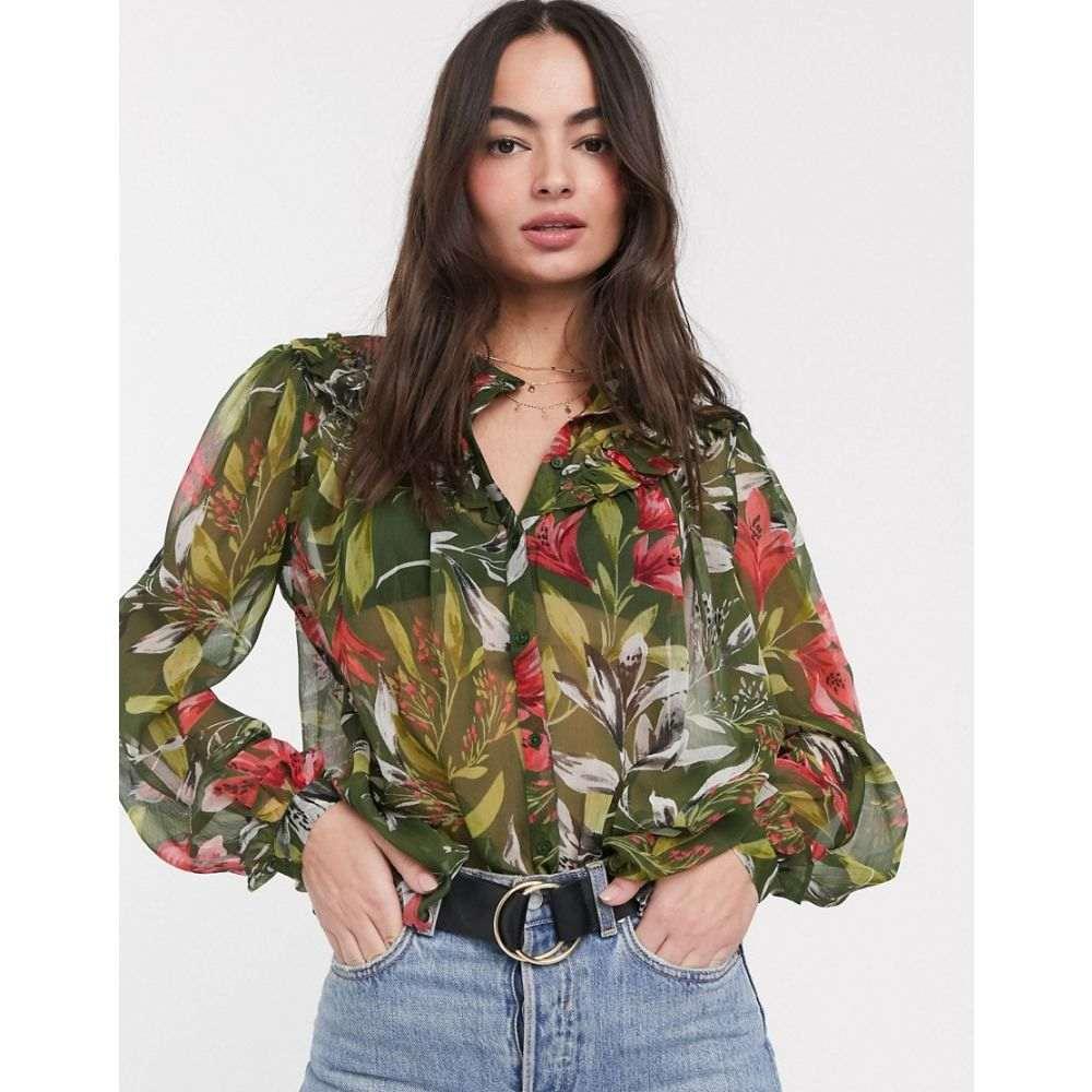 フレンチコネクション French Connection レディース ブラウス・シャツ トップス【floreta crinkle printed blouse】Sweet pea multi