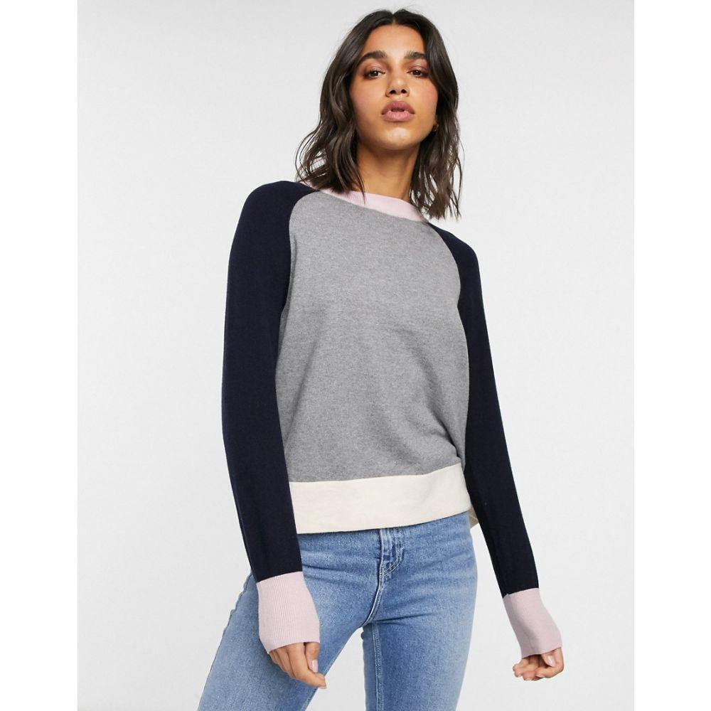 フレンチコネクション French Connection レディース ニット・セーター トップス【colour block knit jumper】Mgrym/util/cash/clas