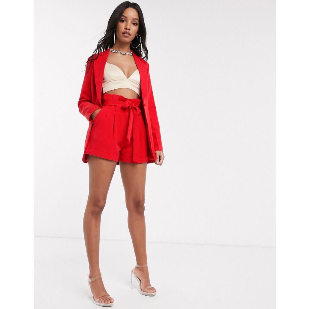 ユニーク21 UNIQUE21 レディース スーツ・ジャケット アウター【Unique21 tailored single button blazer in red】Bright red