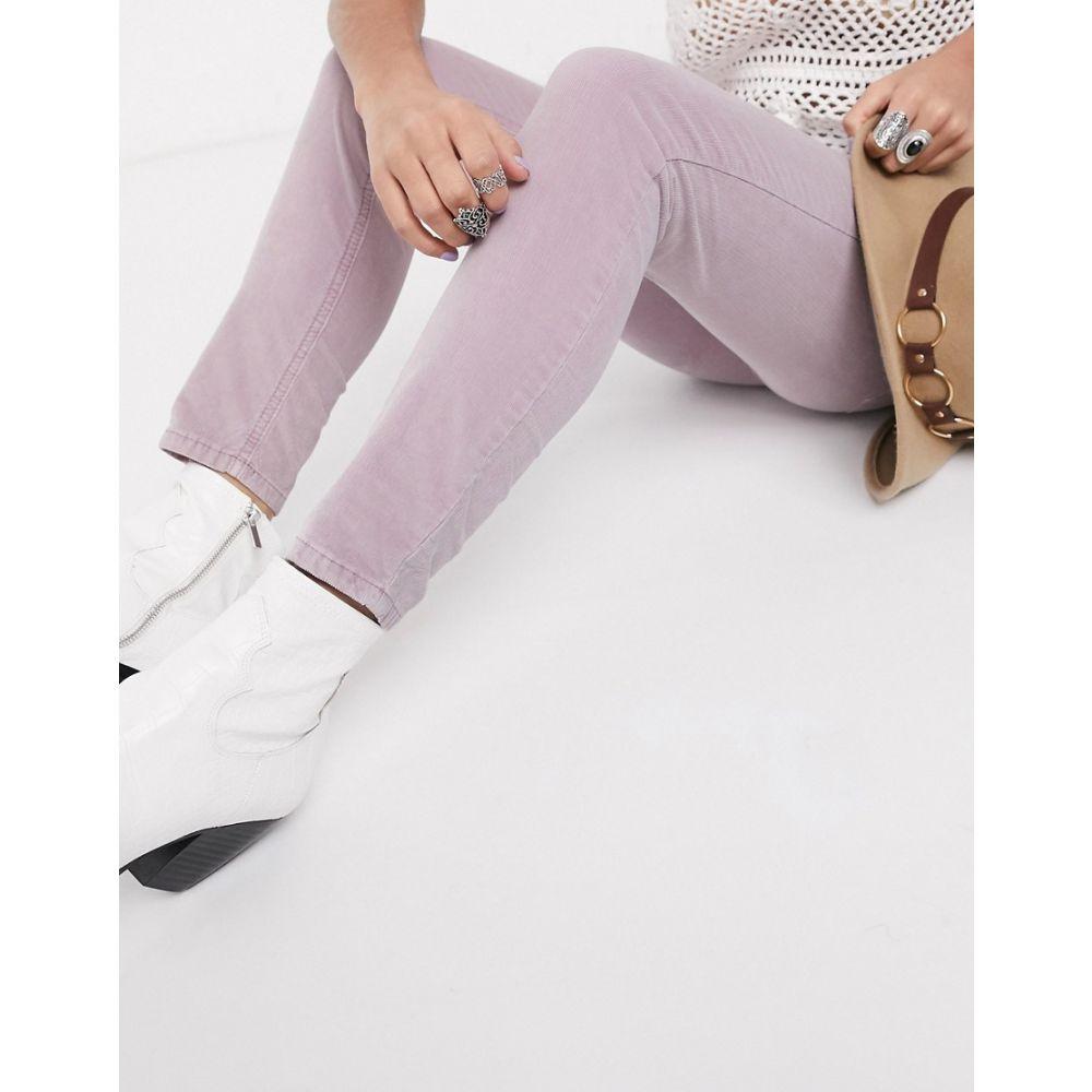 フリーピープル Free People レディース ジーンズ・デニム ボトムス・パンツ【sun chaser cord skinny jean in pink】Lavender