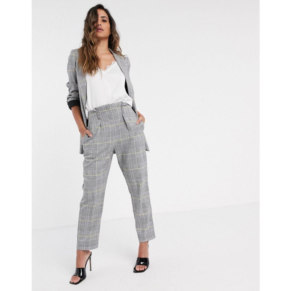 クローゼットロンドン Closet London レディース ボトムス・パンツ 【tailored trouser in light check】Grey check