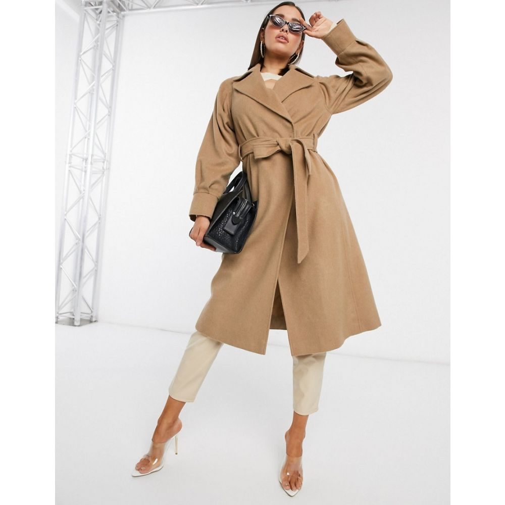 ヘレン バーマン Helene Berman レディース コート アウター【belted tailored wool coat in camel】Camel