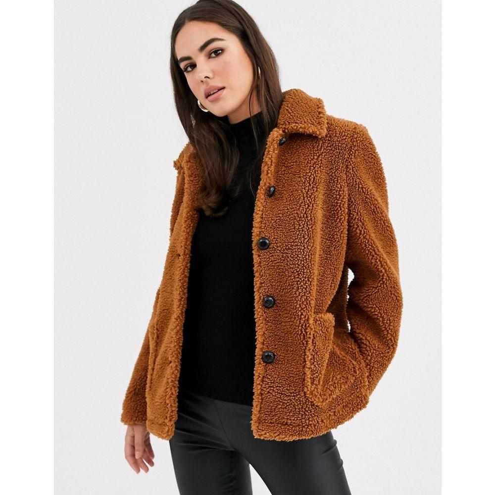 ヴィラ Vila レディース コート テディベアコート アウター【cropped teddy coat】Brown