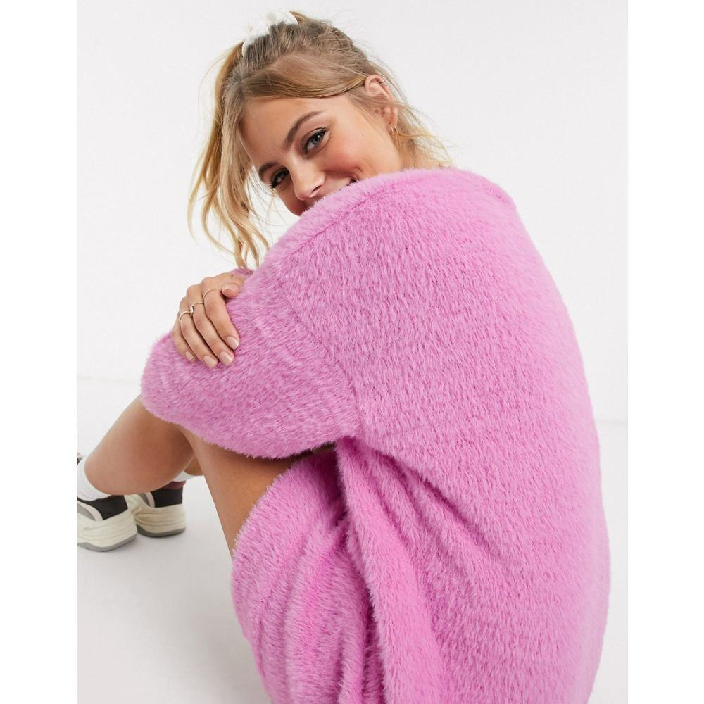 エイソス ASOS DESIGN レディース ワンピース ワンピース・ドレス【fluffy sweat dress in pink】Pink