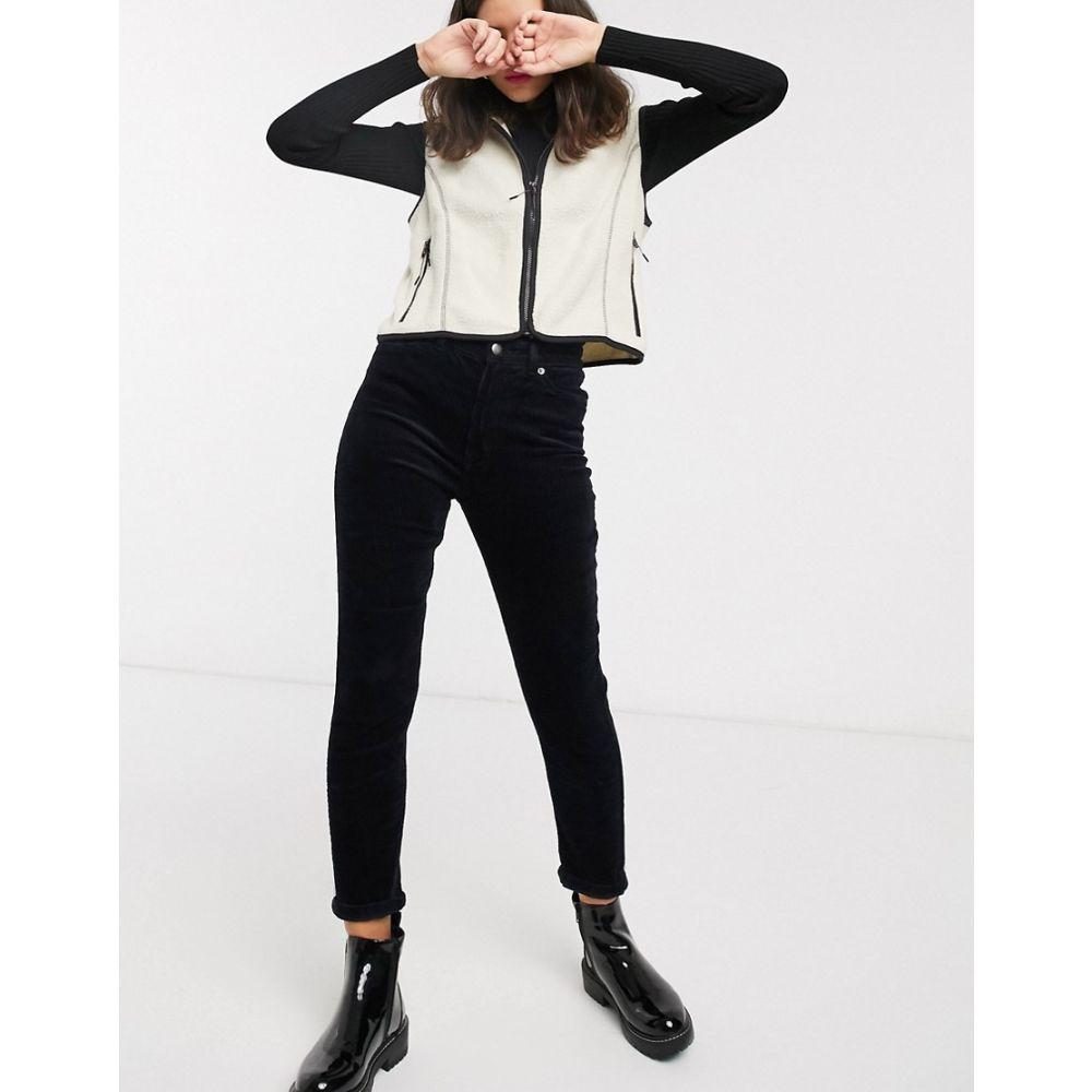 モンキー Monki レディース スキニー・スリム ボトムス・パンツ【Kimmy slim fit cord trousers in black】Black