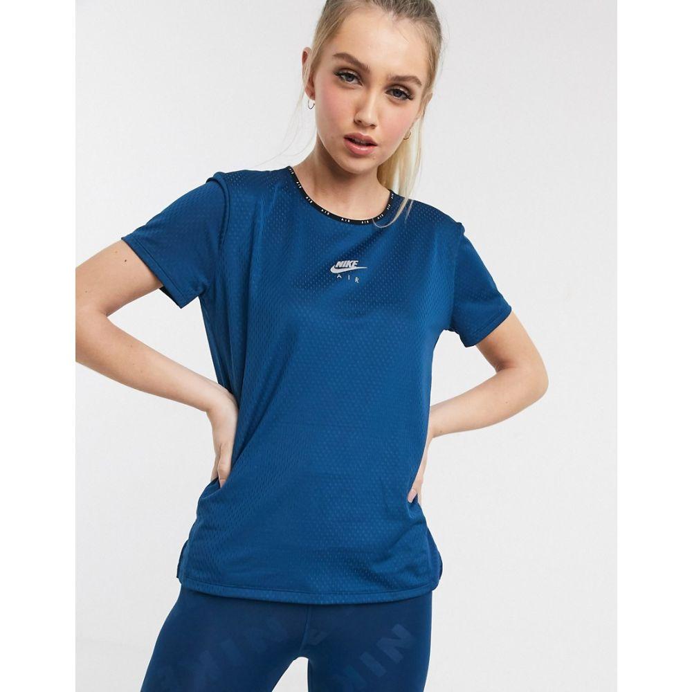ナイキ Nike Running レディース Tシャツ トップス【Air logo t-shirt in blue】Blue